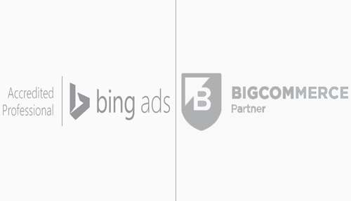 Bing ads Accreditted and Bigcommerce Partnership Badge